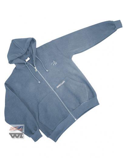 130-DB Zip Jacket Dusty-Blue