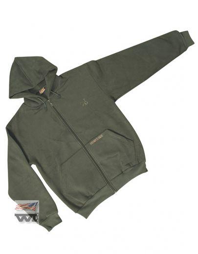 130-MG Zip Jacket Mossgreen