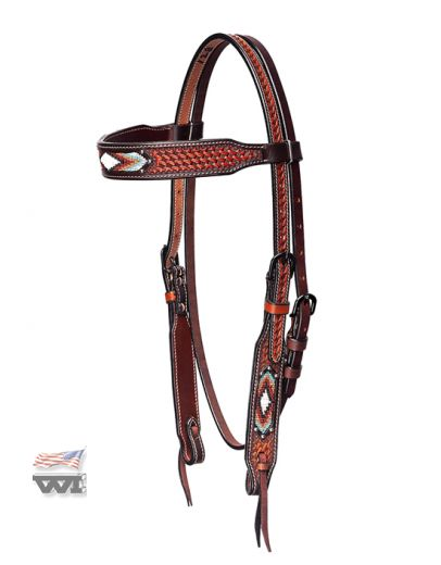 BASKET TOOLED FANCY HEADSTALL HS-M-128