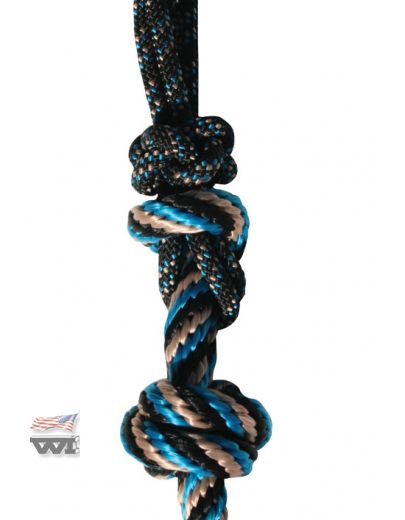 Rope-Halter - Black-Turquoise