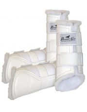 Leather Protection boots - White