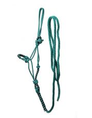 RANCH HALTER w./ LEAD     RH-Bk/green