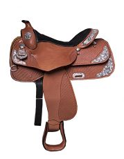PLATINUM SHOWSADDLE , BASKET TOOLED